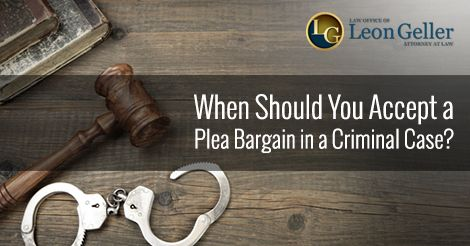 In a criminal case, a plea bargain is the agreement between the prosecutor and the defense attorney to settle a criminal case. While the lawyers typically negotiate the terms of the plea agreement, it is up to the defendant to accept or reject it.