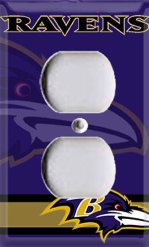 Football Baltimore Ravens Single Outlet Cover Room Decor | eBay