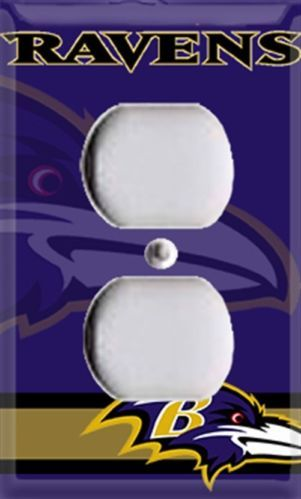 Football baltimore ravens single outlet cover room decor for Baltimore glassware decorators