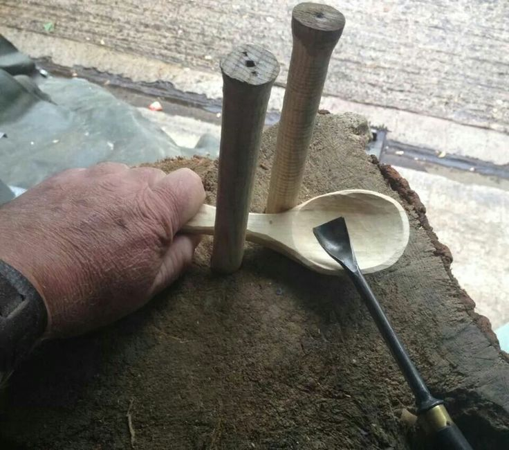 making wooden spoons with power tools 2