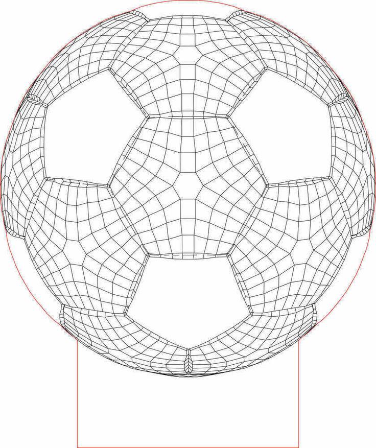 Ball 3D illusion Led lamp vector file