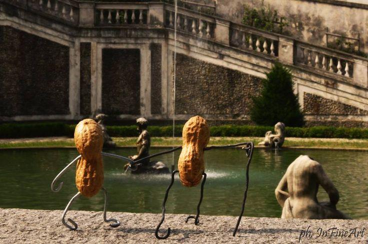 Mr e Mrs InfiNuts si godono il teatro delle acque di Villa della Regina, patrimonio UNESCO dell'umanità. Continuate a seguire i loro viaggi!
