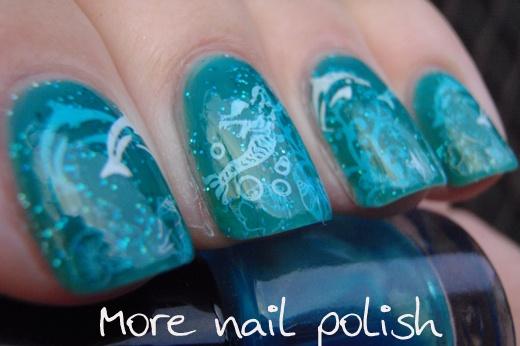 More Nail Polish: Under the sea - 3D stamping