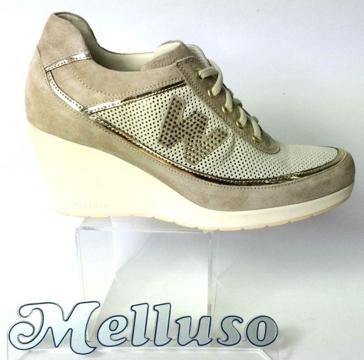 http://www.kirikkiri.it/?df=181550845582&pid=12 Melluso scarpe donna sneakers camoscio colore corda zeppa h 7 cm made in italy #Italia