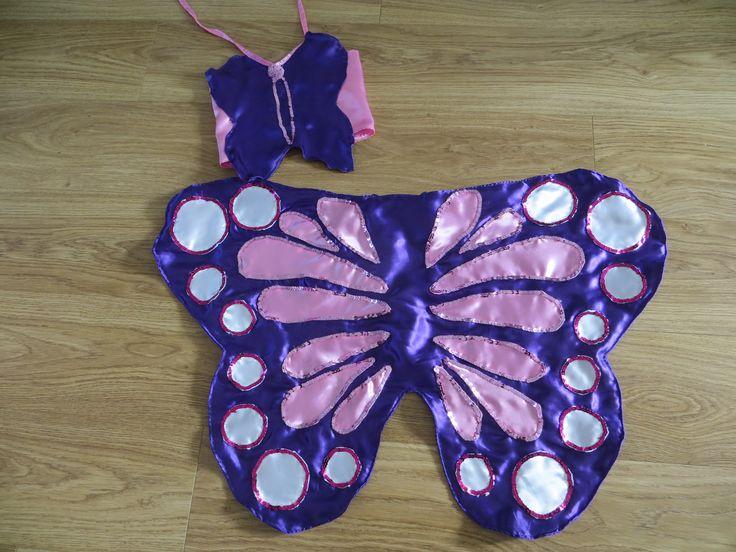 Zelfgemaakte vlindervleugels met bijpassend topje voor carnaval - Tilia