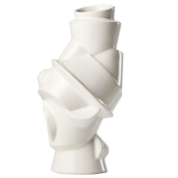 Closely Separated vase, white