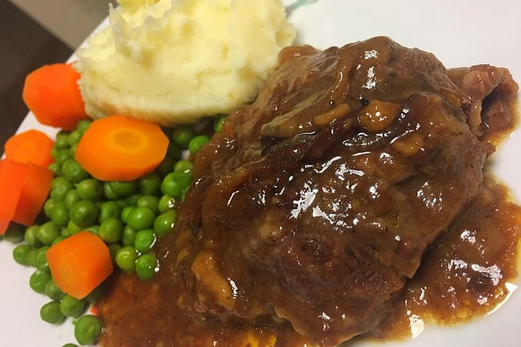 Melt in your mouth tender steak in a gravy that will make you literally want to lick your plate!