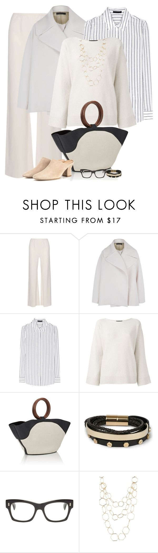 """""""Untitled #7232"""" by lisa-holt ❤ liked on Polyvore featuring The Row, Givenchy, Oliver Peoples and Spring Street"""