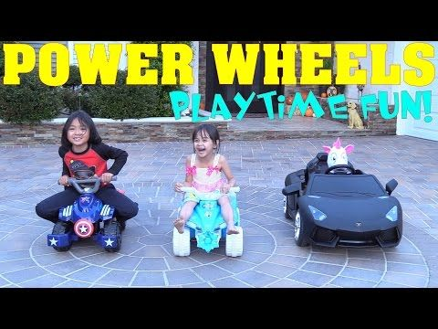 Power Wheels! We Love Power Wheels! Quad Bikes and Lamborghini Aventador Supercar - YouTube