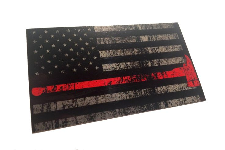 Thin Red Line Flag With Axe