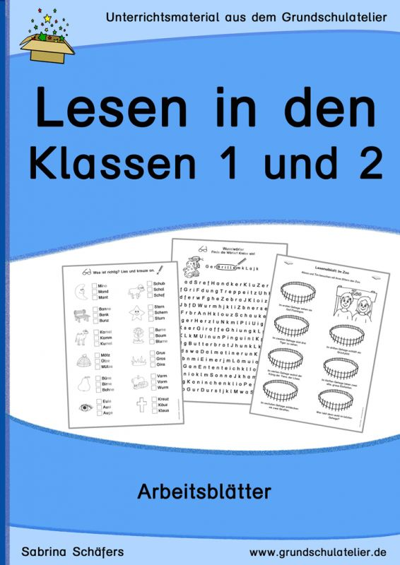 lesen in den klassen 1 und 2 arbeitsbl tter ideen f r die grundschule deutsch unterricht. Black Bedroom Furniture Sets. Home Design Ideas