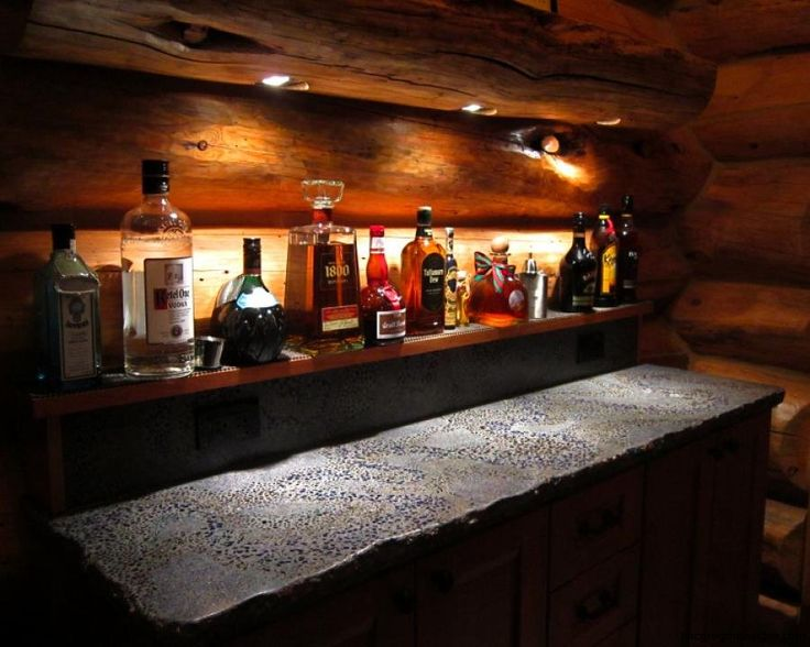 Concrete wet bar top by james mcgregor with mcgregor for Concrete bar top ideas