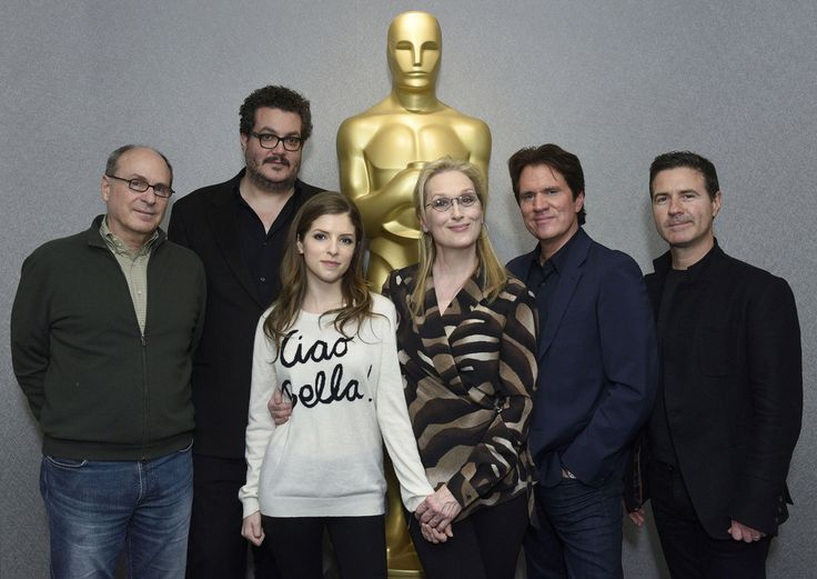 James Lapine, Wyatt Smith, Anna Kendrick, Meryl Streep, Rob Marshall and Dion Beebe attend the The Academy Of Motion Picture Arts And Sciences Hosts An Official Academy Members Screening Of INTO THE WOODS at The Academy Theatre at Lighthouse International on December 9, 2014 in New York City.