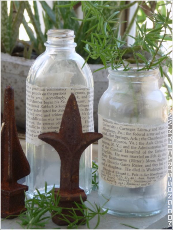 My Hearts Song - Antiquing New Bottles (Tutorial)