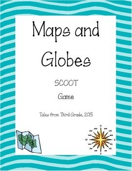 I used this as an end of the unit review for third grade map and globe skills.  Includes a student recording sheet as well as an answer key.I recommend copying the cards on card stock and laminating for durability.Please leave me feedback- let me know if you have concerns or suggestions!Thank you!
