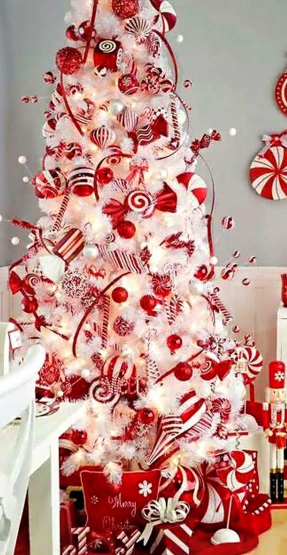 37 mejores im genes sobre rboles de navidad en pinterest - Arbol de navidad blanco decorado ...
