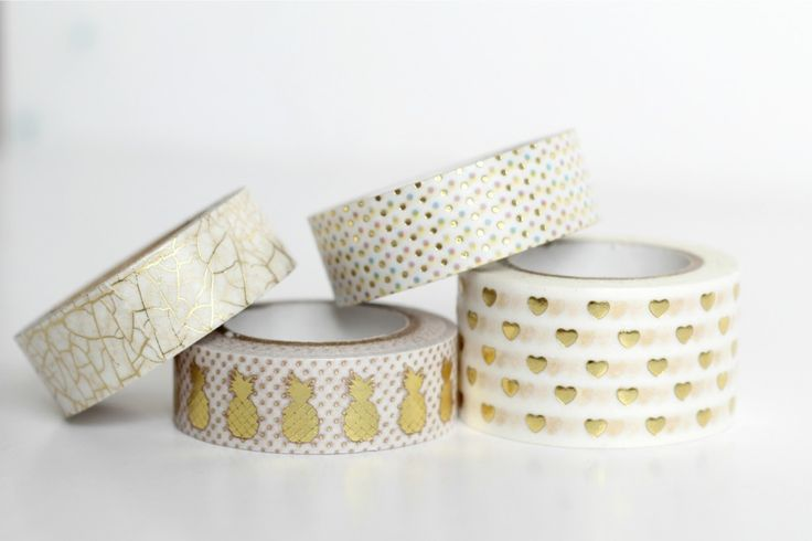 Gold-Foil-Washi-Tapes including the popular gold pineapple washi tape!