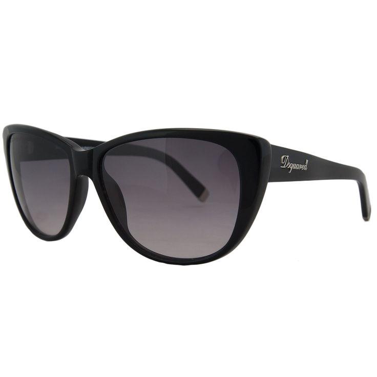 DSquared DQ 0080 01V Black Wayfarer Full Rim Sunglasses