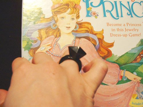 Getting stuck with the dreaded black ring while playing Pretty Pretty Princess. | 23 Problems Only '90s Girls Will Understand