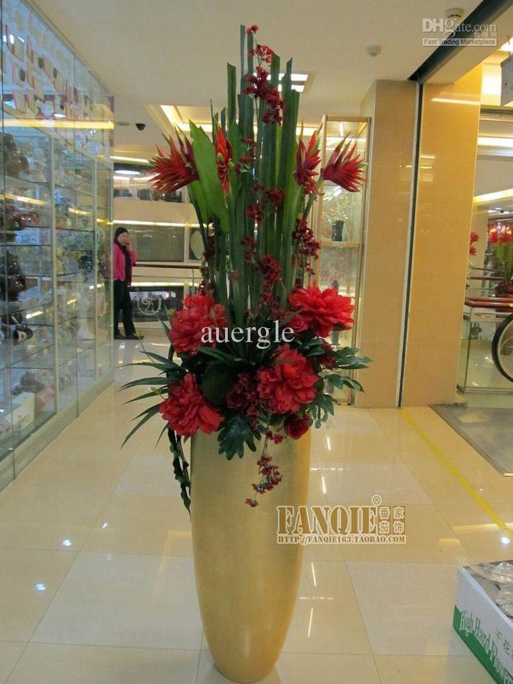 Large Floor Vase Set Modern Fashion Decoration Set Artificial