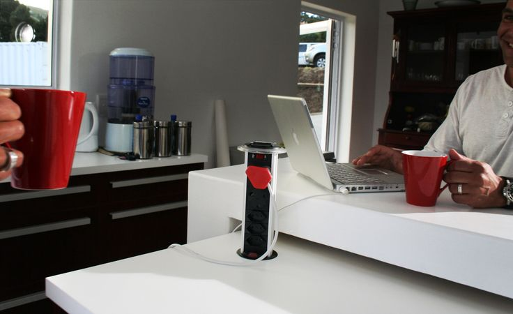 The Powerdock Mk1 is the perfect kitchen power solution. The PDO Mk1 is generally used in the kitchen however can be used in the following locations: Home office Dressing tables Garage work stations TV cabinets Get rid of the messy cable clutter and gain convenient access to your power requirements. #PowerLogicSA #powerdock