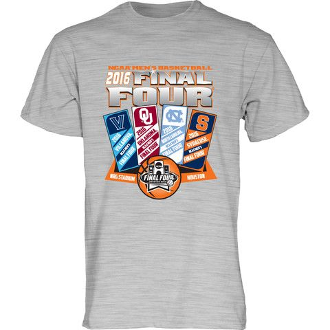2016 NCAA Final Four March Madness Basketball Houston Ticket Logos T-Shirt