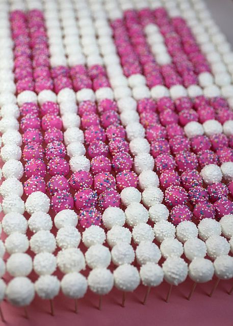 LOVE Mini Cake Pops by Bakerella, via Flickr. These are all mini cake pops, how cute!