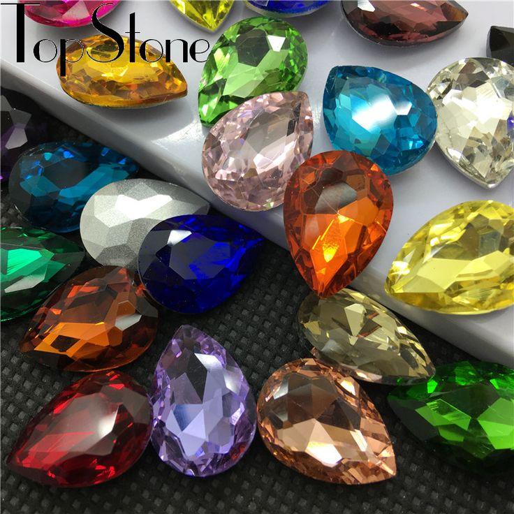 Все Размеры Цвета Teardrop необычные камень указал назад 4x6mm ~ 20x30 мм Хрусталя Капли Ювелирные Изделия бусины ожерелья, брошь решений