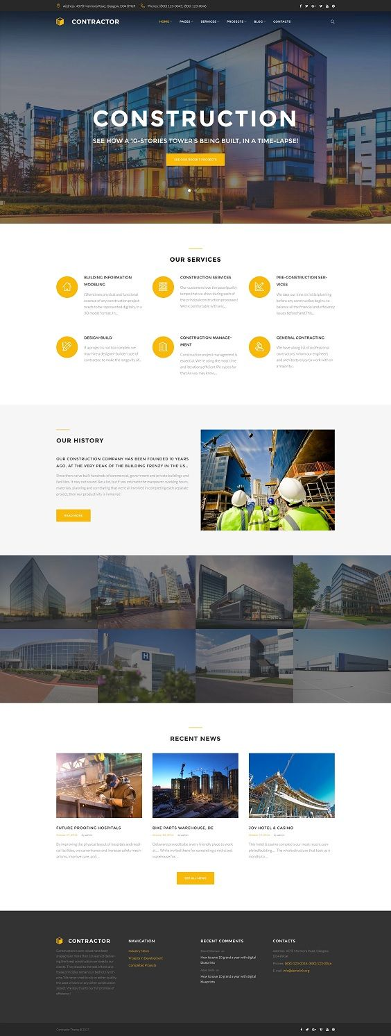 Searching for a perfect template that would picture your passion online? Want to implement your dearest ideas? Get ready to meet Building Company WordPress Theme. This product is an extension of our beloved Monstroid2. It has everything you can imagine for a profitable construction company website and not only. This skin comes with GPL license, plenty of useful plugins, a wide range of header and footer styles. Installation wizard helps to prepare the site and launch it in few clicks. Install al