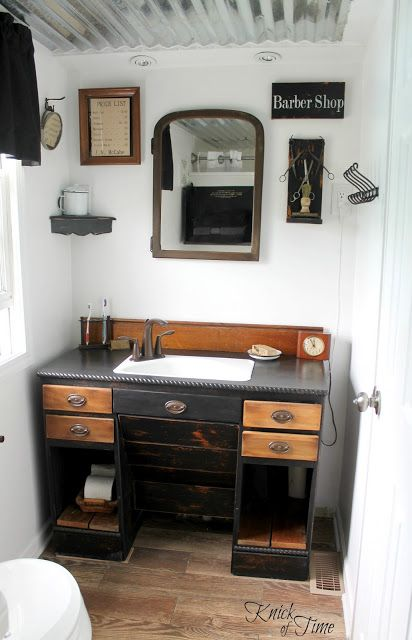 Salvaged JUNK into a Remodeled Bathroom! via KnickofTimeInteriors.blogspot.com