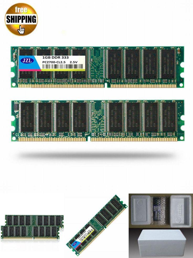 [Visit to Buy] JZL Memoria PC-2700 DDR 333MHz / PC2700 DDR333 / DDR1 333 MHz DDR333MHz 1GB LC2.5 184PIN Non-ECC 2.5V Desktop PC DIMM Memory RAM #Advertisement