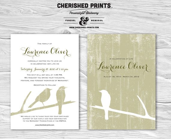 43 best Funeral cards \ Funeral Poems images on Pinterest Loved - memorial service invitation template