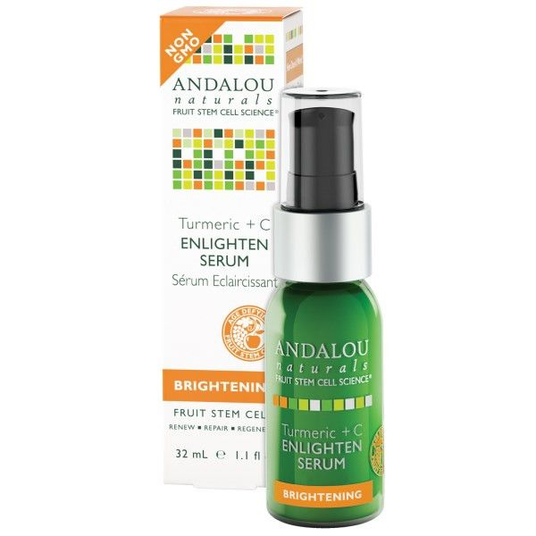 Andalou Naturals Enlighten Serum Turmeric + C Brightening - 1.1 oz