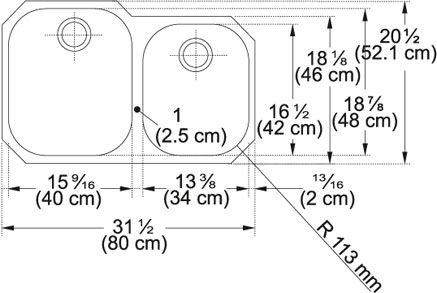 <p> Franke RGX160 31 Inch 'Regatta' Undermount Double Bowl Stainless Steel Sink</p>