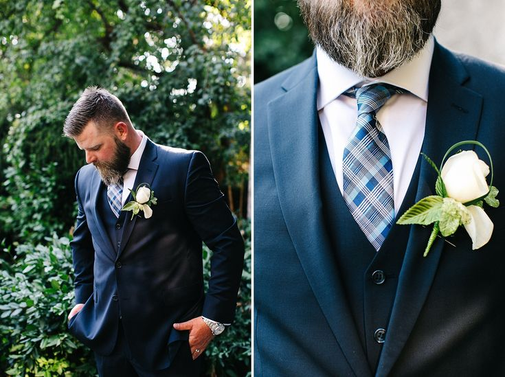 We are so into this Bearded Groom's Style!  Parkwood Estates Wedding | Jennifer van Son Photography