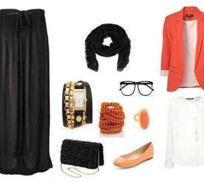 Formal hijab style swag