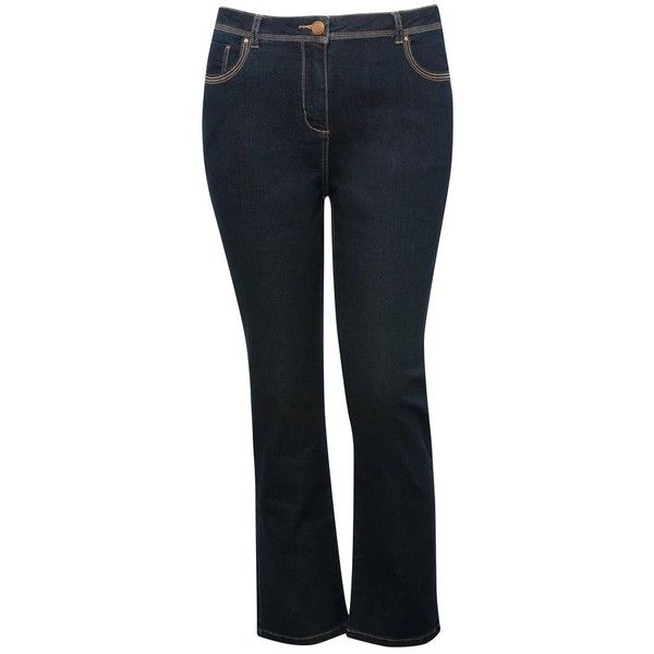 M&Co Plus Straight Leg Jeans ($31) ❤ liked on Polyvore featuring jeans, indigo, plus size, m&co, straight leg jeans, indigo jeans, denim jeans и womens plus size jeans