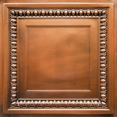 DCT 06 Faux Tin Ceiling Tile - Antique Copper