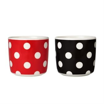 Pallo coffee cup - red-white - Marimekko