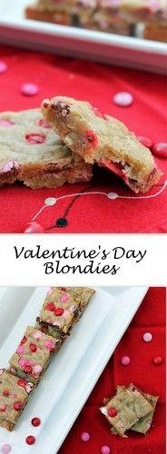 Valentine's Day Blondies (aka M&M Blondies)