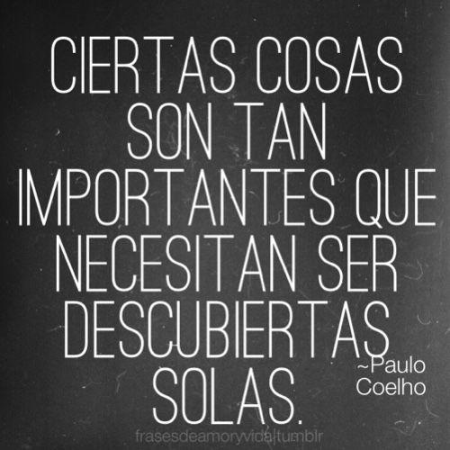 Imagen Con Frase De Paulo Coelho Ciertas Cosas Son Tan Importantes