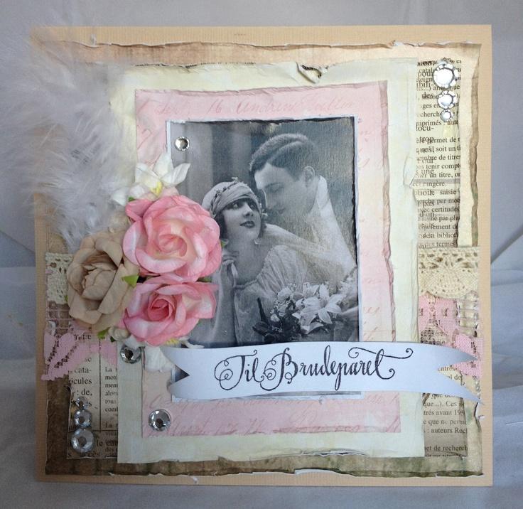 Anja's Kortkreasjoner: Shabby chic Bryllup bestillingskort