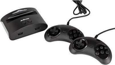 EGA Genesis Classic Game Console.  This old-school gaming system is compatible with most of the old Genesis cartridges like Mortal Kombat, Sonic the Hedgehog and other 16-bit favorites. Two controllers and all the necessary connections are included.  http://bloggamesmanship.blogspot.com/2017/11/sega-genesis-classic-game-console.html