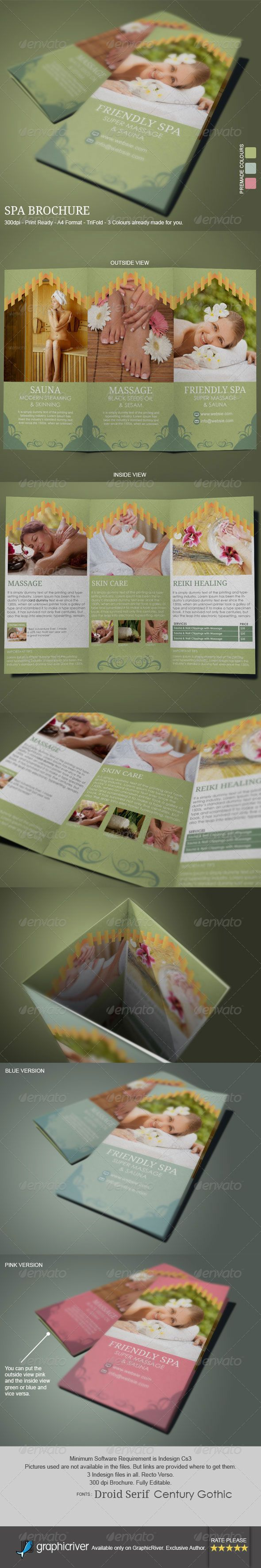 Brochure template for Wellness Spa , Health spa, or Reiki Healing