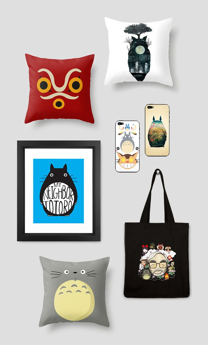 Totoro and Company | dotandbo.com This would be my dream home to stealth decorate with Miyazaki inspired items.  If you don't know who that is immediately watch his movies and thank me later.