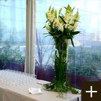décoration buffet fleurs