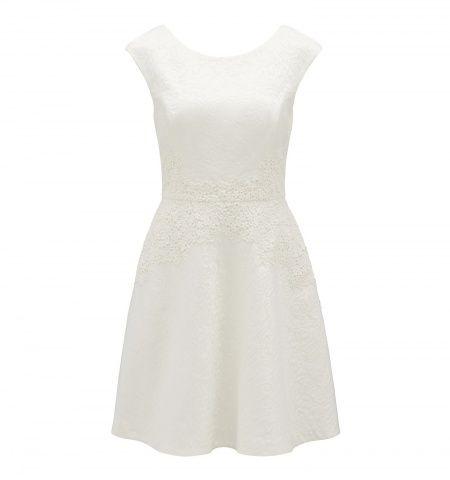 Forever New Rebecca Jakarlı Beyaz Elbise: Lidyana.com