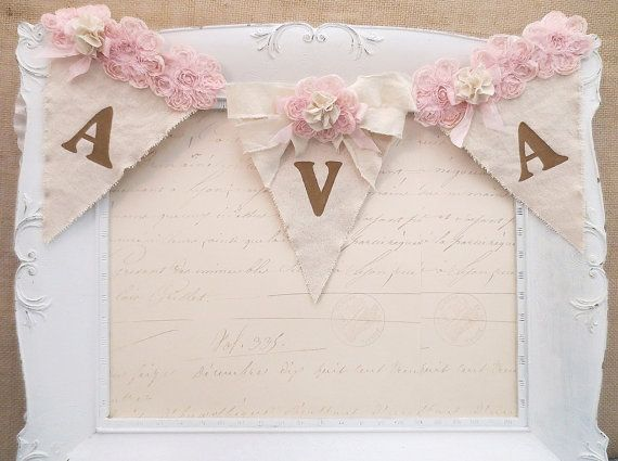 Girl Name Banner 1st Birthday Party Banner di kathyjacobson