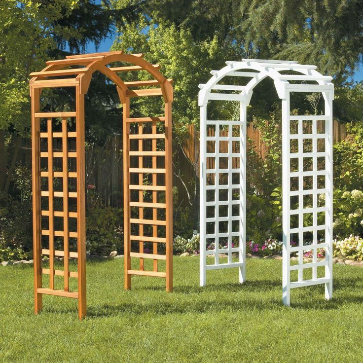 25 best images about wooden arches ideas on pinterest gardens planters and wooden trellis - Garden wood arches ...