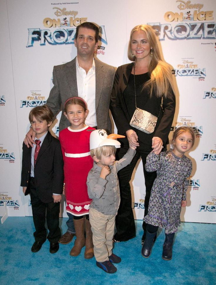 Donald Trump Jr. and his wife Vanessa Trump have five children together, Donald III, Kai and Tristan Trump (pictured) and Spencer and Chloe (not pictured). Trump's youngest grandchild Chloe was born on June 16, 2014.